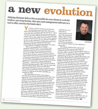 A New Evolution, article by Greg Stanley